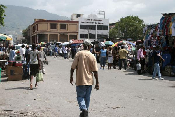 Picture of Port-au-Prince (Haiti): Marché en Fer area: typical street scene in Port-au-Prince