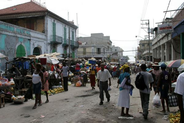 Crowded street in the Marché en Fer area in Port-au-Prince | Port-au-Prince | Haiti
