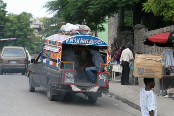 Picture of Tap-taps (Haiti): Tap-tap in Port-au-Prince