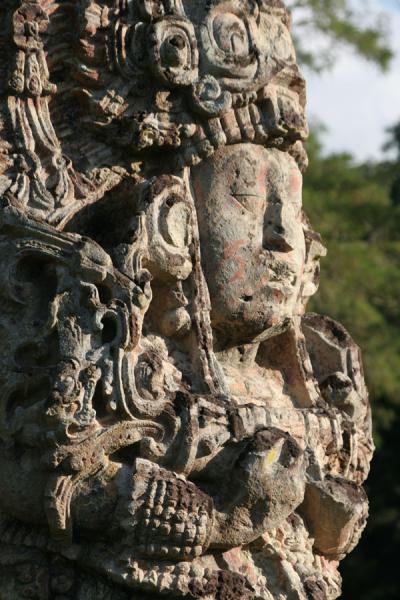 Picture of Copán (Honduras): Copán: detail of Stela H