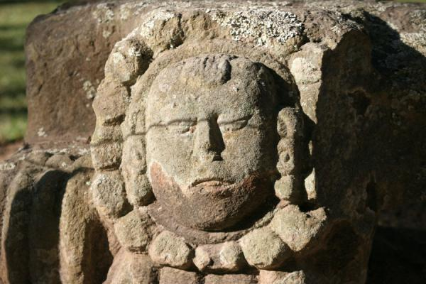 Picture of Copán: detail of sculpture