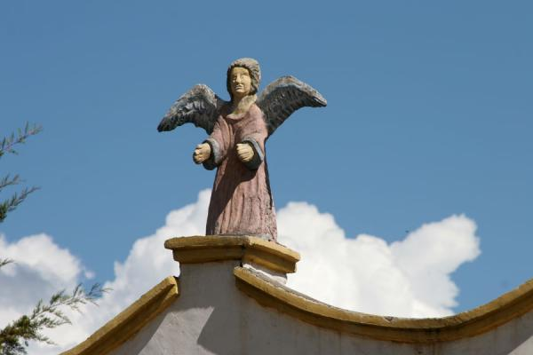 Angel on top of one of Erandique's churches | Erandique | Honduras