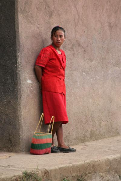 Girl waiting for a ride, Western Honduras | Honduran People | Honduras