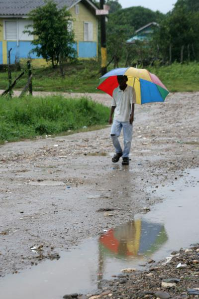 Walking in the rain, Northern Honduras | Honduran People | Honduras