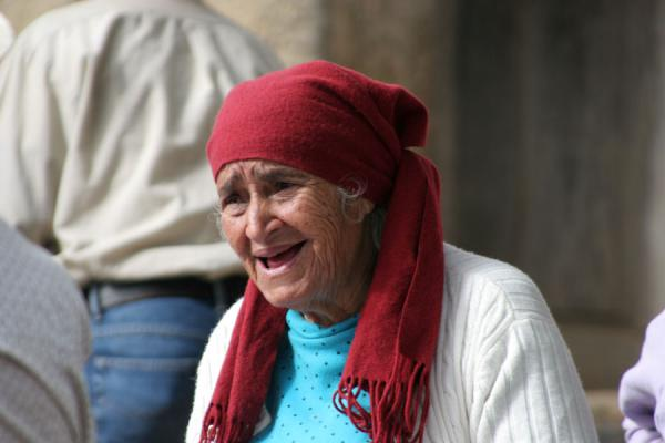 Old woman in market in Western Honduras | Honduran People | Honduras