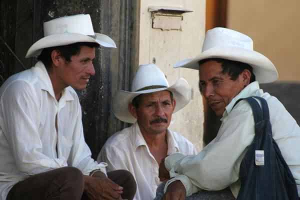 Men in the street with typical sombreros or hats, Western Honduras | Honduran People | Honduras
