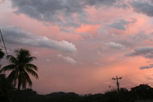 Picture of Honduran Skies (Honduras): Gracias: red skies around sunset