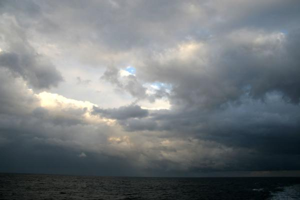 Picture of Honduran Skies (Honduras): Utila: clouds over the Caribbean