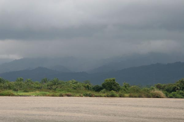 Picture of Honduran Skies (Honduras): Caribbean coast: clouds over the mountains