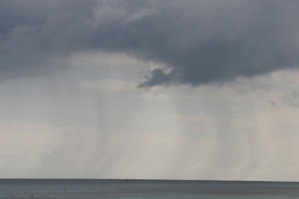 Picture of Honduran Skies (Honduras): Utila: showers over the Caribbean