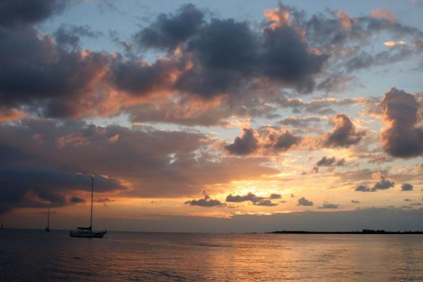 Picture of Honduran Skies (Honduras): Utila: sunset over the sea