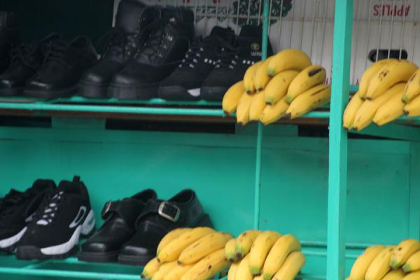 Selling shoes and bananas | La Ceiba | Honduras