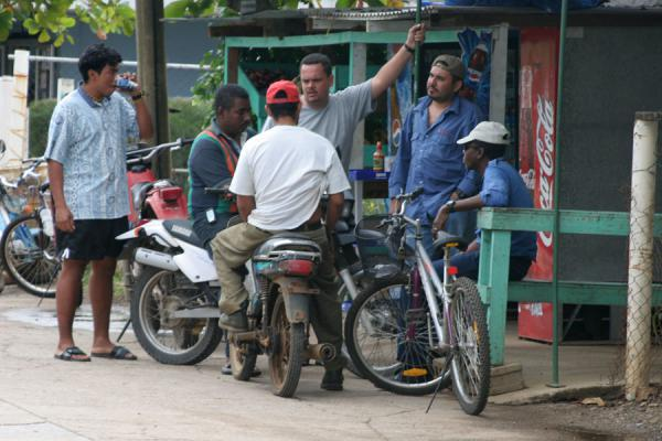 Picture of Utila: chatting in the street - Honduras - Americas