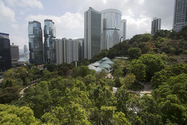 Photo de View over Hong Kong park from the observation towerHong Kong Park - Hong Kong