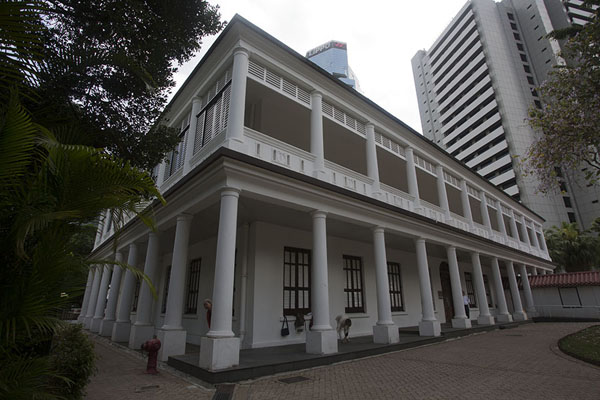 Picture of Flagstaff House, a colonial building now housing the Teaware museum