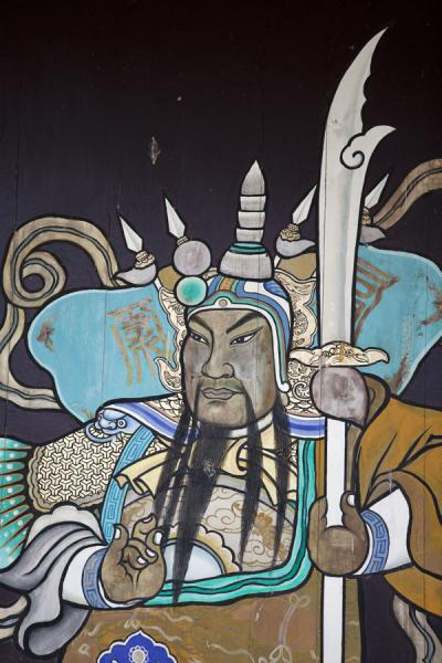 Picture of Lung Yeuk Tau Heritage Trail (Hong Kong): Close-up of painting in Tang Chung Ling ancestral hall