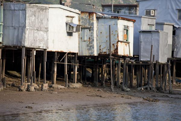 Foto de Houses on stilts on the river in Tai OTai O - Hong Kong