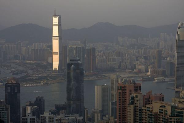 Late afternoon view of Hong Kong from the Peak | Victoria Peak | Hong Kong