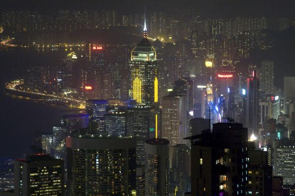 Photo de Hong Kong skyline seen from Victoria PeakVictoria Peak - Hong Kong