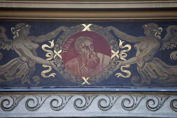 Foto di Ungheria (Detailed wall painting representing Tizian on the Hungarian Academy of Fine Arts)