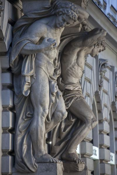 Picture of Sculptures at the facade of a building on Andrássy út