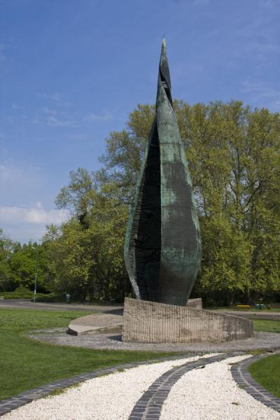Centennial Monument on the southern tip of Margaret Island | Margit eiland | Hongarije