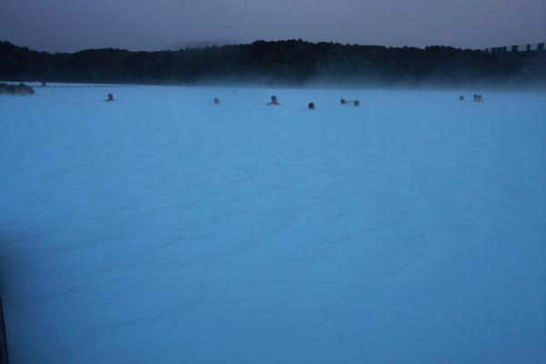 People taking a relaxing bath in the Blue Lagoon | Blue Lagoon | Iceland