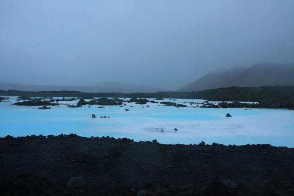 The Blue Lagoon and surrounding landscape | Blue Lagoon | Iceland
