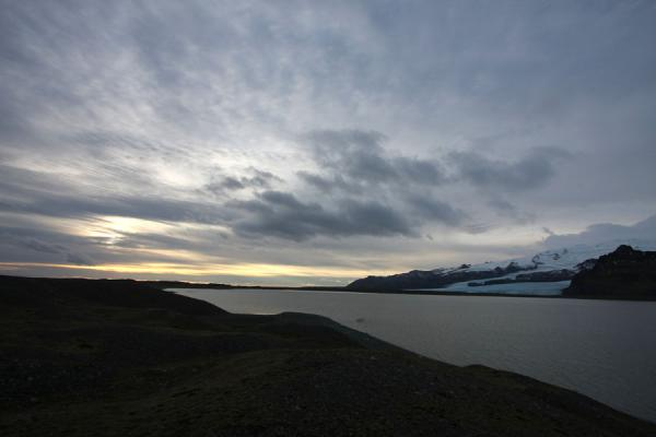 Picture of Winter light over the waters of FjallsárlónFjallsárlón - Iceland