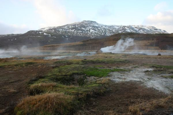 The Geysir area with steaming earth | Geysir | Iceland