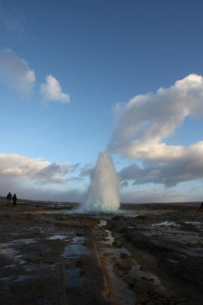 Picture of Strokkur strikes again: eruption of this very active geyser