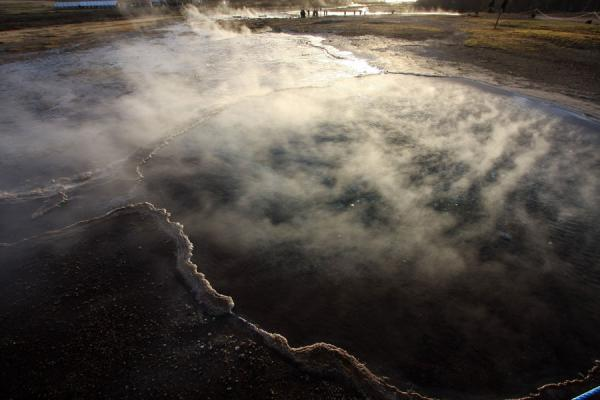 Steam coming from a pool at the Geysir area | Geysir | Iceland