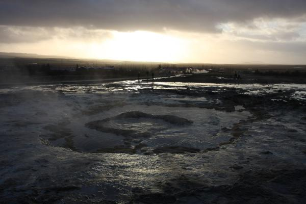 Water is boiling and getting ready to be blasted into the air by the next eruption of Strokkur | Geysir | Iceland