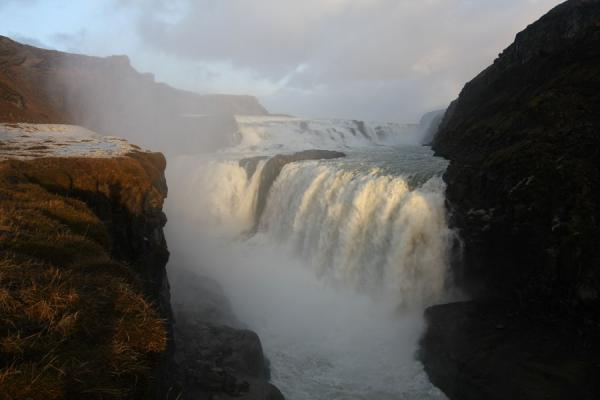 Picture of Gullfoss disappearing into the narrow ravine - Iceland - Europe