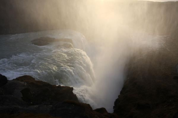 Gullfoss and haze in the late afternoon | Gullfoss | Islandia