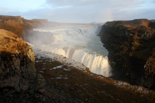 Picture of Gullfoss (Iceland): Gullfoss seen from above