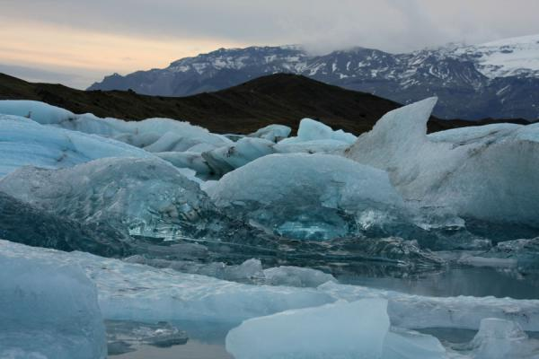 Picture of Jökulsárlón Glacier Lagoon (Iceland): White, blue and transparent ice formations in Jökulsárlón