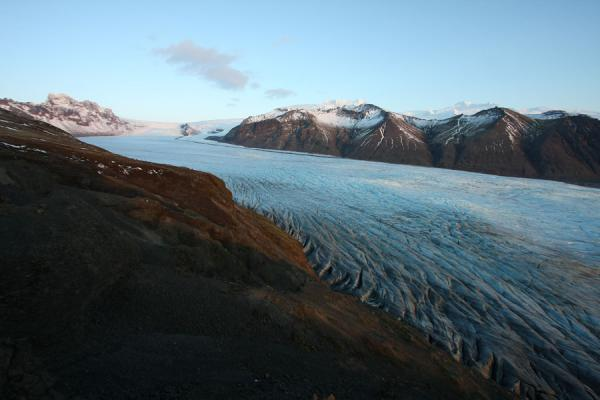 Picture of Skaftafellsjökull glacier coming down from Vatnajökull icecapSkaftafell - Iceland
