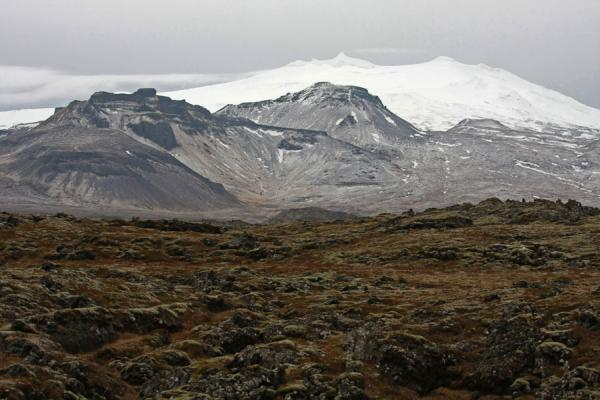 Picture of Snow-capped top of Snæfellsjökull volcano in western Snaefellsnes peninsulaSnæfellsnes - Iceland