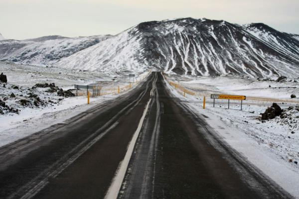 Picture of Road in northern Snæfellsnes in winter