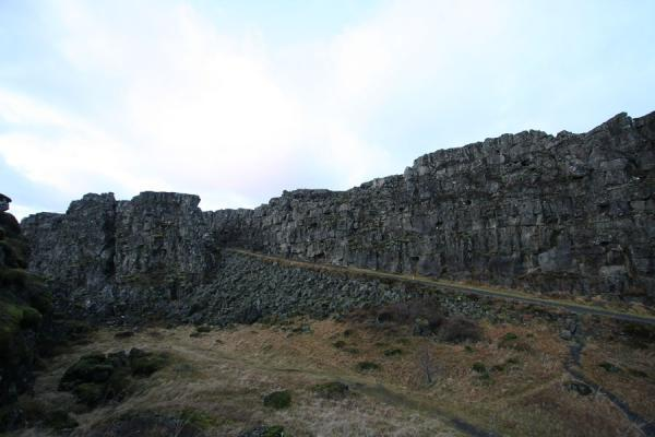 Picture of Abrupt crack in the earth: the Almannagjá fault in the Þingvellir area