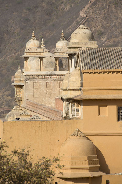 Foto van View of Amber Fort from the south - India - Azië