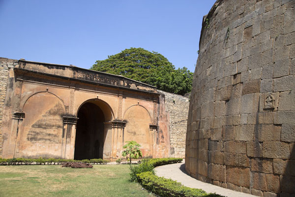 Wall and gate inside Bangalore Fort | Bangalore Fort | India