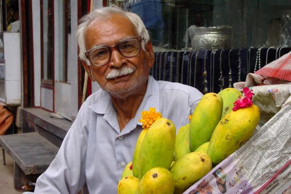 Picture of Chandni Chowk (India): Mango seller, Chandni Chowk, New Delhi