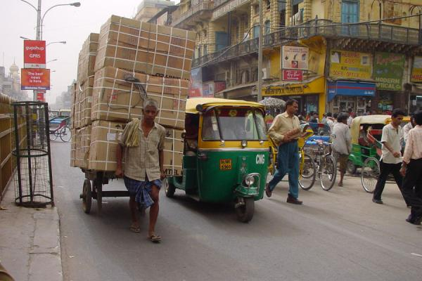 Picture of Chandni Chowk (India): Carrying load, Chandni Chowk, New Delhi