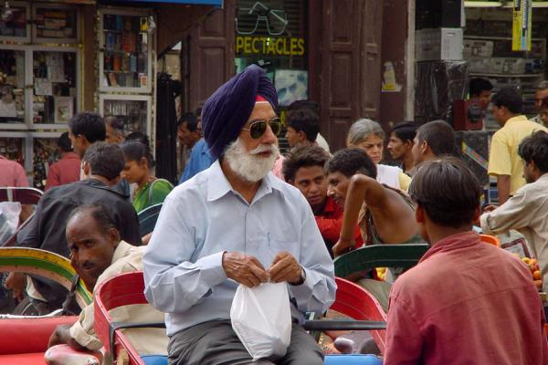 Picture of Chandni Chowk (India): Standing out in the crowd in Chandni Chowk, New Delhi