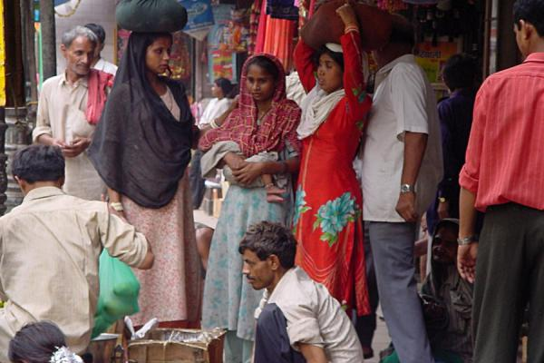Picture of Chandni Chowk (India): Chandni Chowk market scene