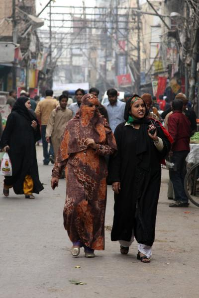 Women in one of the streets of Chawri Bazaar | Chawri Bazaar | India