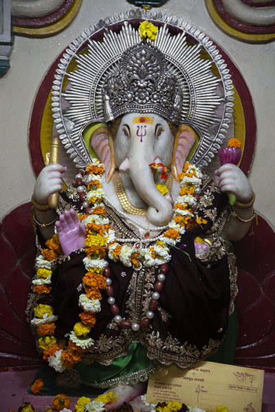 Picture of Ganesh shrine in the Shri Shiv mandirDelhi - India