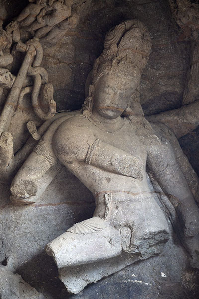 Nataraja, the King of Dancers, in a corner of the main cave | Grottes d'Eléphanta | Inde